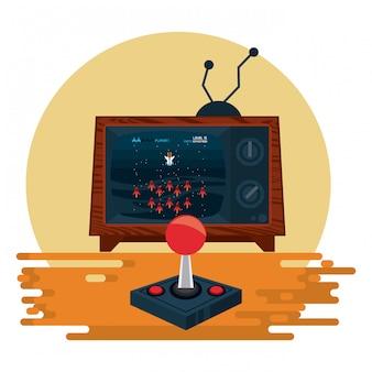 レトロなビデオゲーム用アーケードコンソール