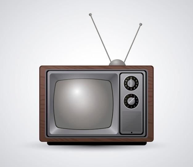 レトロなテレビデザイン