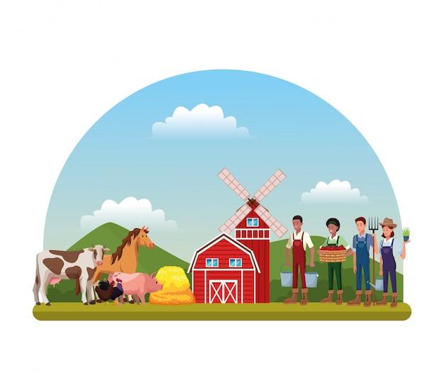 Ферма сельских мультфильмов