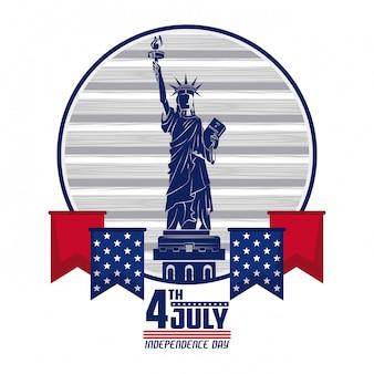 アメリカ独立記念日カード