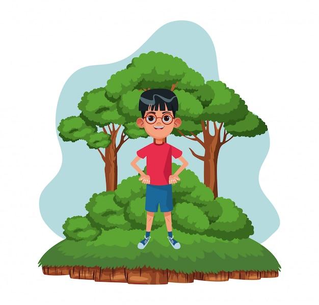 小さな子供アバターの漫画のキャラクター