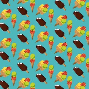 アイスクリームとアイスキャンデー要素の構成