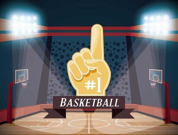 バスケットボールスポーツゲーム