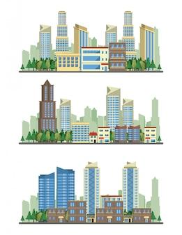 都市建築都市景観ビューのシナリオ