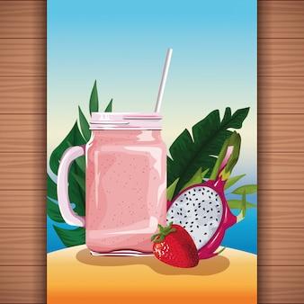 Летний тропический фруктовый сок
