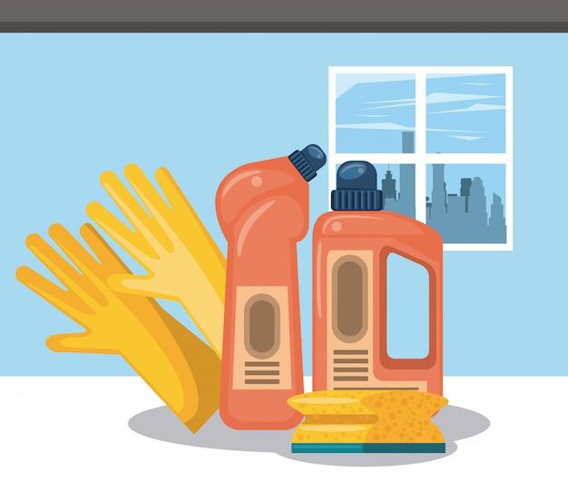 家庭用漫画のクリーニング製品