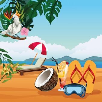 Летние каникулы и пляжные мультфильмы.