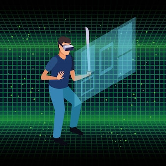 Люди и очки виртуальной реальности технологии