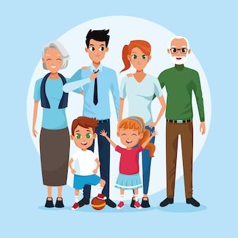 Семейные бабушки и дедушки, родители и дети мультфильмы