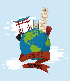 Путешествия, путешествия и туристические места