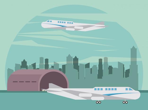 交通商業旅客機飛行機漫画