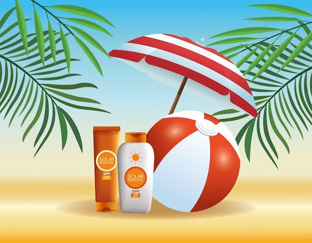 夏とビーチ商品の漫画
