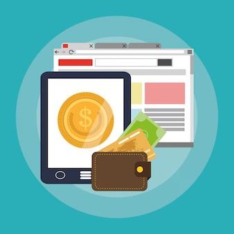 Интернет-магазины или значки, связанные с электронной коммерцией