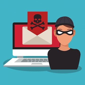 セキュリティシステムのハッカー