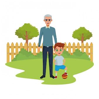 手の孫と祖父