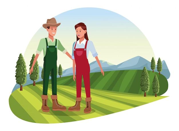 農場、動物、農家の漫画
