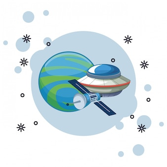 宇宙探査と惑星漫画