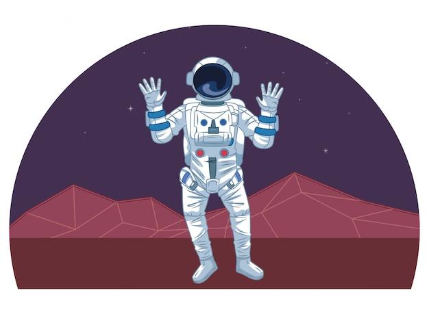 Астронавт в освоении космоса мультфильмы