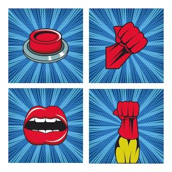 Комикс взрыв поп арт мультяшный