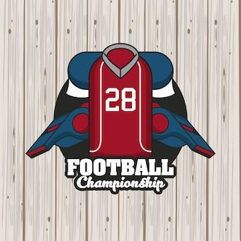 サッカースポーツチャンピオンシップトーナメントエンブレム
