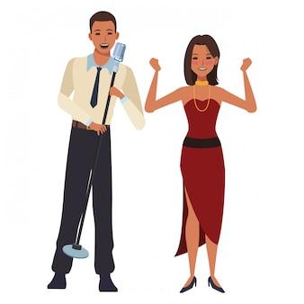 歌手およびダンサー