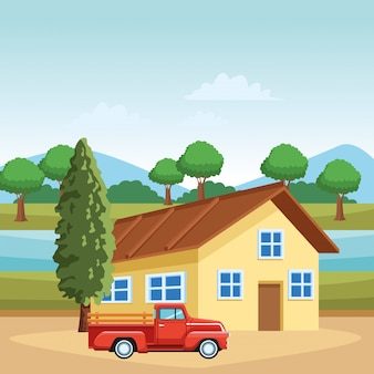 家とトラック