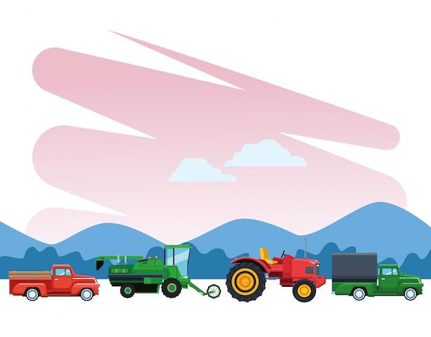 Грузовик и трактор
