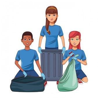 清掃員アバターの漫画のキャラクター