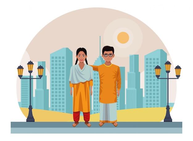 Индийский детский аватар мультипликационный персонаж