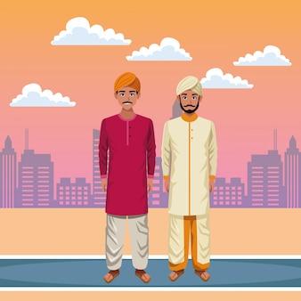 Индийский мужчина аватар мультипликационный персонаж