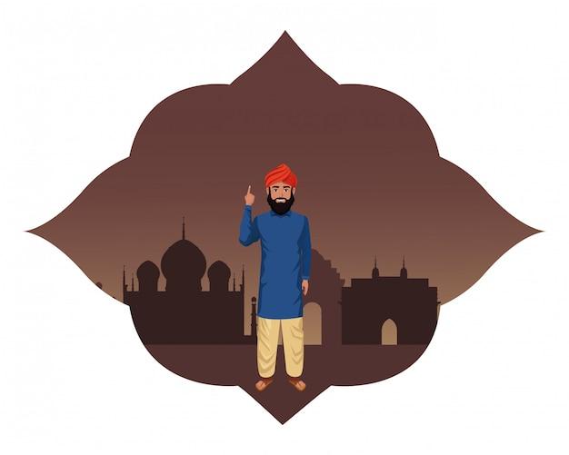 インド人のアバターの漫画のキャラクター
