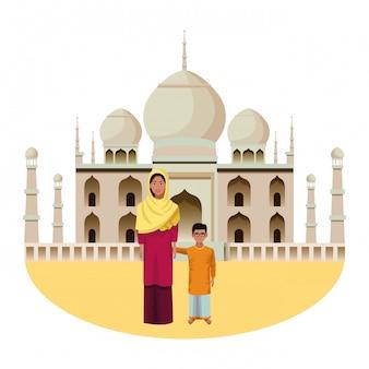 インドの家族のアバターの漫画のキャラクター