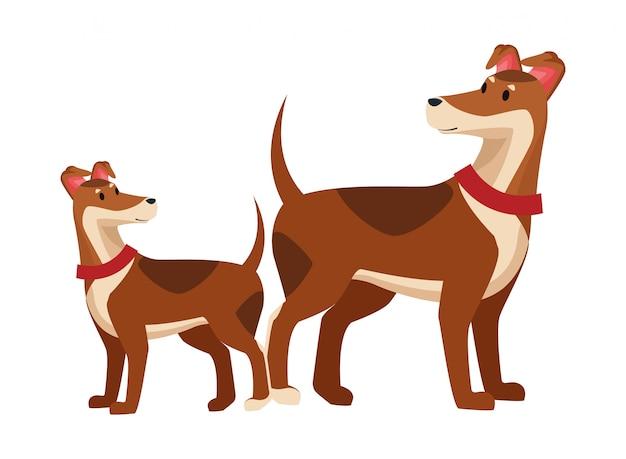 Домашние животные и значок домашних животных