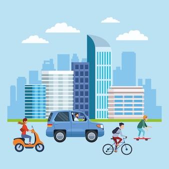 都市交通とモビリティ漫画