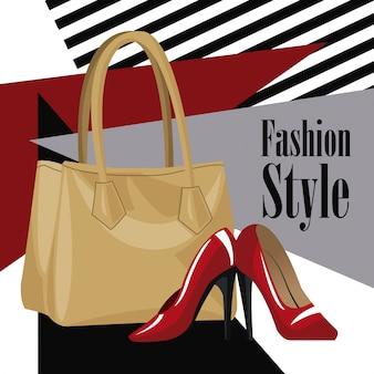 Модный аксессуар кошелек красный каблук