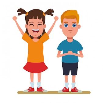 子供アバター漫画キャラクターの肖像画