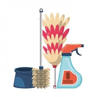 Комплект уборочного оборудования и продуктов