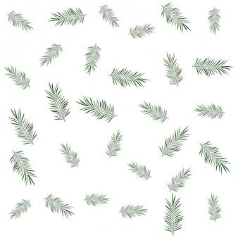 熱帯のヤシの葉のパターンの背景
