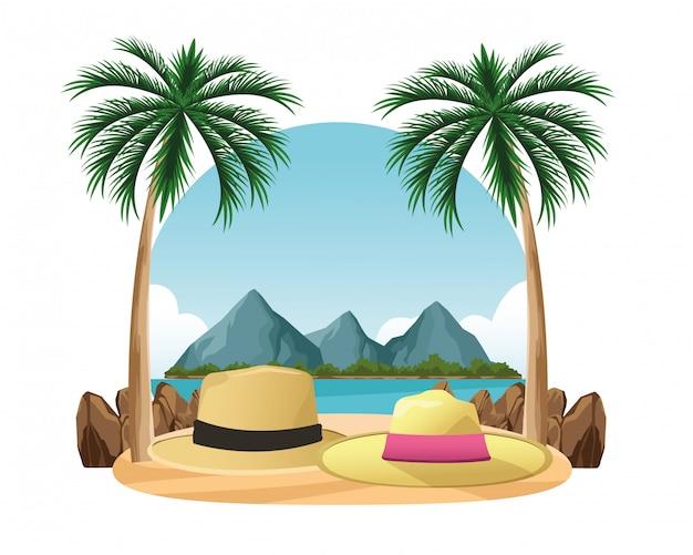 男性と女性のための夏の帽子