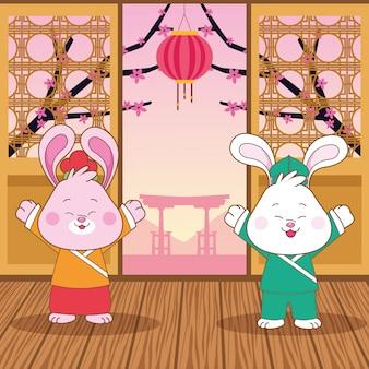 中秋節の中国祭りの漫画