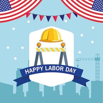 労働者の日アメリカのお祝い漫画