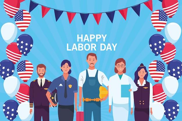 幸せな労働者の日カード、アメリカの休日