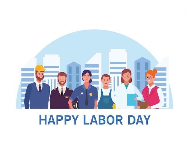 Поздравительная открытка с днем труда, праздник сша