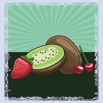 健康的なフレッシュフルーツ栄養