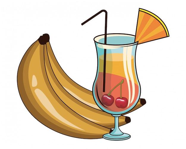 バナナのカクテル
