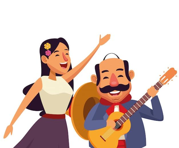 メキシコの伝統文化アイコン漫画