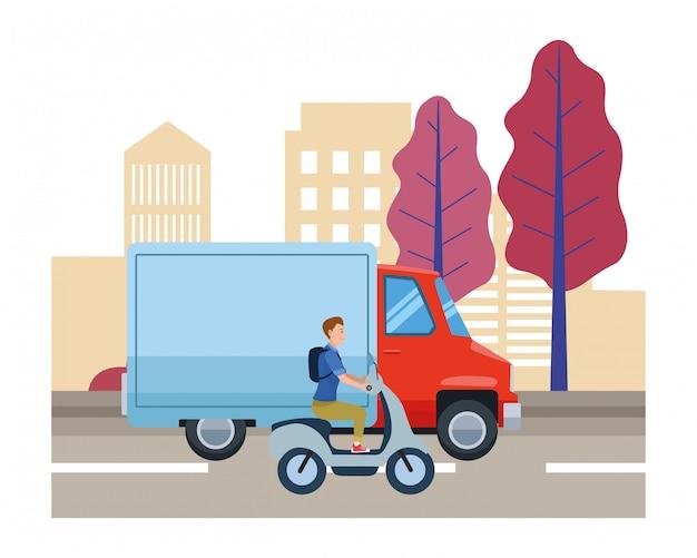 運転者が乗る車両およびオートバイ
