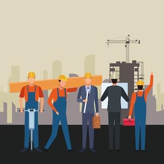 建設労働者の労働者ツール