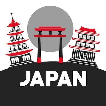 伝統的な建物のゲート日本