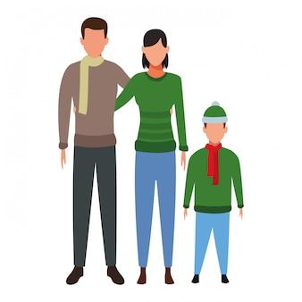 家族のアバターの漫画のキャラクター